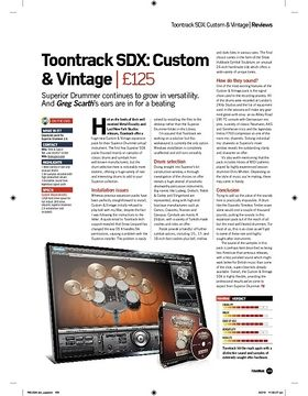 Toontrack SDX: Custom and Vintage