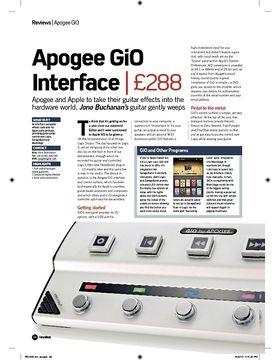 Apogee GiO Interface