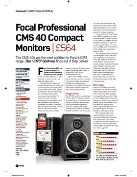 Focal Professional CMS 40 Compact Monitors