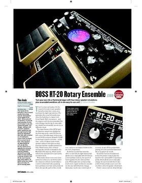 Boss RT20 Rotary Ensemble