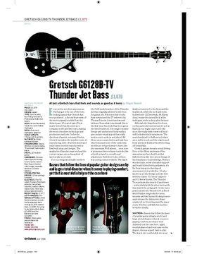 Gretsch G6128BTV Thunder Jet Bass