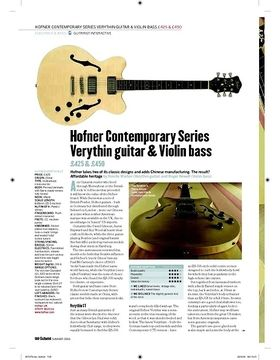 Hofner Contemporary Series Verythin Guitar