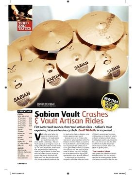 Sabian Vault Crashes and Vault Artisan Rides