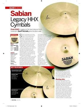 Sabian Legacy HHX Cymbals