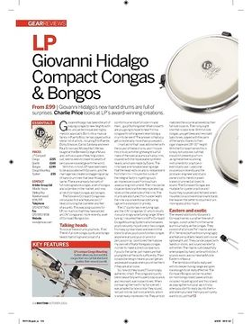 LP Giovanni Hidalgo Compact Congas and Bongos