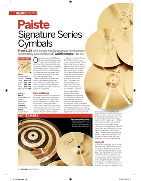 Paiste Signature Series Cymbals