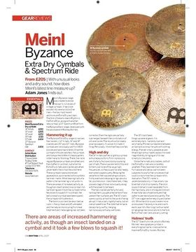 Meinl Byzance Extra Dry Cymbals and Spectrum Ride
