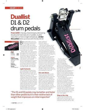 Duallist D1 and D2 drum pedals