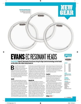 Evans EC Resonant Drum Heads