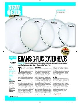 Evans GPlus Coated heads