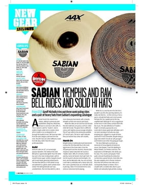 SABIAN MEMPHIS AND RAW BELL RIDES AND SOLID HI HATS