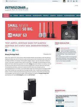 Test: Ampeg, Heritage Bass-Top & Ampeg Heritage SVT-410HLF-Box, Bassverstärker