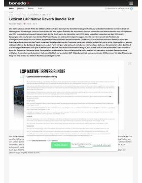 Lexicon LXP Native Reverb