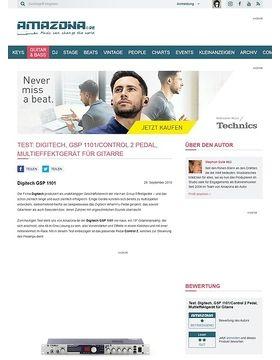 Test: Digitech, GSP 1101/Control 2 Pedal, Multieffektgerät für Gitarre