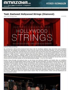 Test: Eastwest, Hollywood Strings (Diamond)