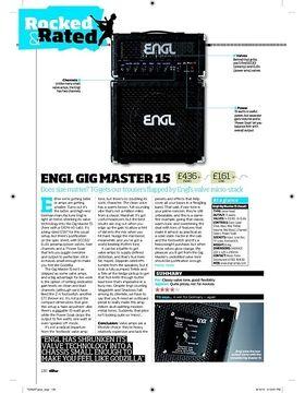Engl Gig Master 15 head