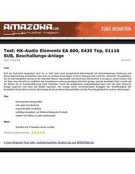 Special: HK-Audio Elements im Bandtest