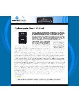 Engl Amps Gig Master 15 Head
