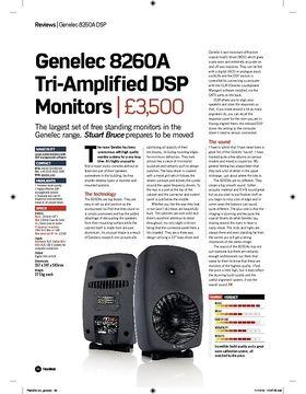 Genelec 8260A Tri-Amplifi ed DSP  Monitors