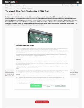 Toontrack New York Studios Vol. 2 SDX