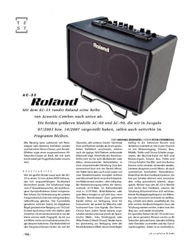 Roland AC-33, Akustik-Verstärker