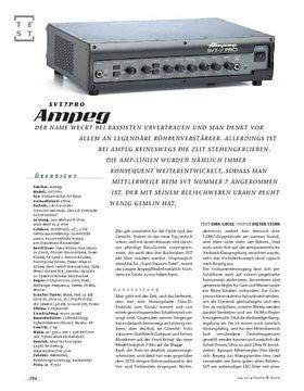 Ampeg SVT7-Pro, Bass-Top