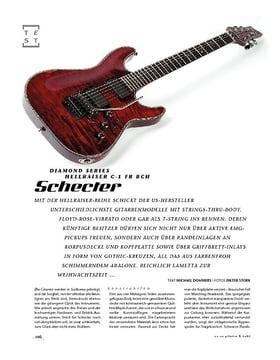 Schecter Diamond Series Hellraiser C-1 FR BCH, E-Gitarre