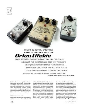 Orion Minus Booster, Western Drive & Elektro Booster, Gitarreneffekte
