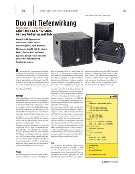 """Thomann / """"The Box Pro"""" Achat 108 CXA & 112 SUBA - aktives PA-System mit Subwoofer"""