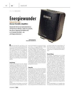 Roland BA-330 - Stereo Portable Amplifier