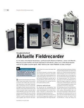Aktuelle Fieldrecorder