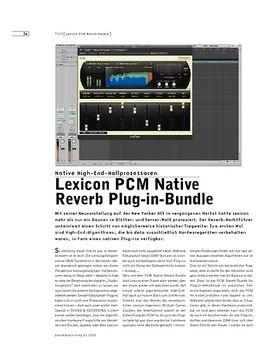 Lexicon PCM Native Reverb Plug-in-Bundle