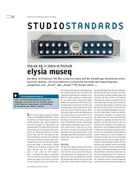 Studiostandards - elysia museq