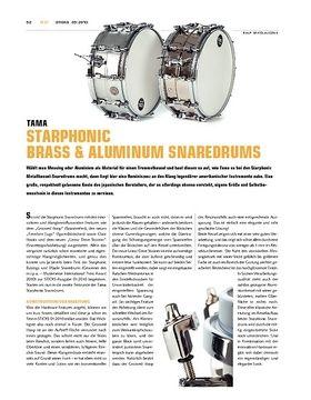 Tama Starphonic Brass & Aluminum Snaredrums