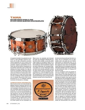 Tama Starphonic Maple und Bubinga Snaredrums
