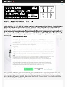 Sonor Artist Cottonwood Snare