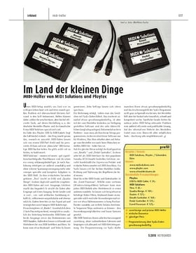 MIDI-Helfer von MIDI Solutions und Ploytec