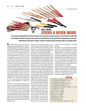 Vic Firth Sticks & Besen News 2010
