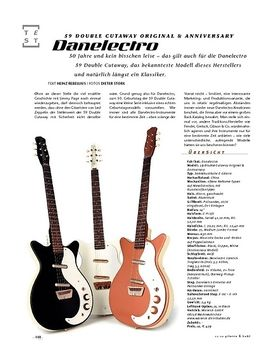 Danelectro 59 Double Cutaway Original & Anniversary, E-Gitarren