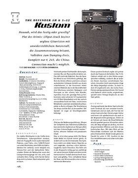 Kustom The Defender 5H & 1x12, Röhren-Stack