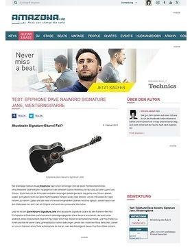 Test: Epiphone, Dave Navarro Signature Jane, Westerngitarre