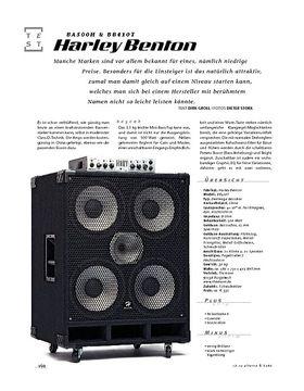 Harley Benton BA500H & BB410T, Bass-Anlage