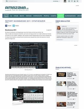 Report: Musikmesse 2011 / Synthesizer