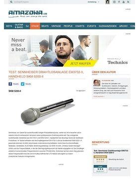 Test: Sennheiser Drahtlosempfänger EM3732-II und Handsender SKM 5200-II mit Neumannkapsel