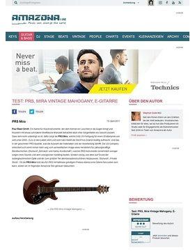 Test: PRS, Mira Vintage Mahogany, E-Gitarre