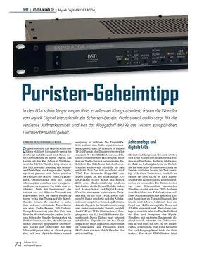 Puristen-Geheimtipp Mytek Digital 8X192 ADDA