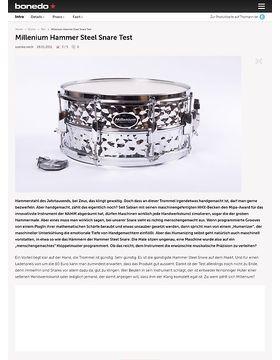 Millenium Hammer Steel Snare