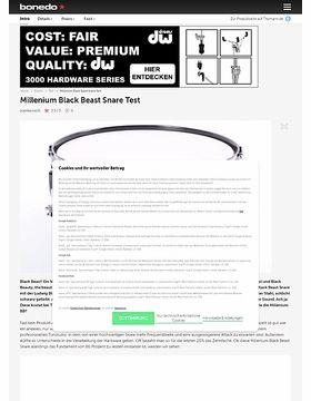 Millenium Black Beast Snare