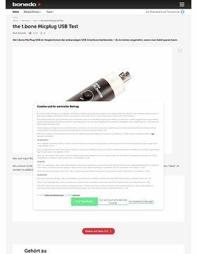 the t.bone MicPlug USB