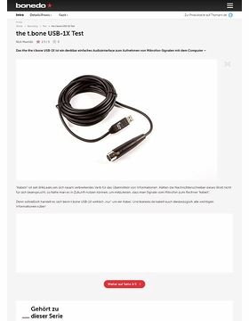 Preiswert Mirkofonsignale zum Computer kabeln! * the t.bone USB-1X